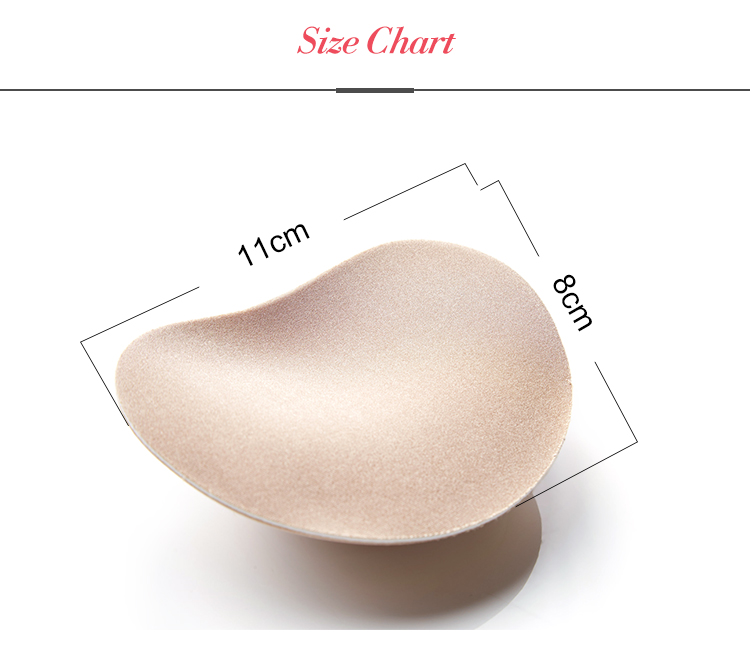 Amazing Invisible Heart Padding Magic Bra Insert Pads Push Up Silicone Adhesive Breast Nipple Enhancer For Women Bra Swimwear