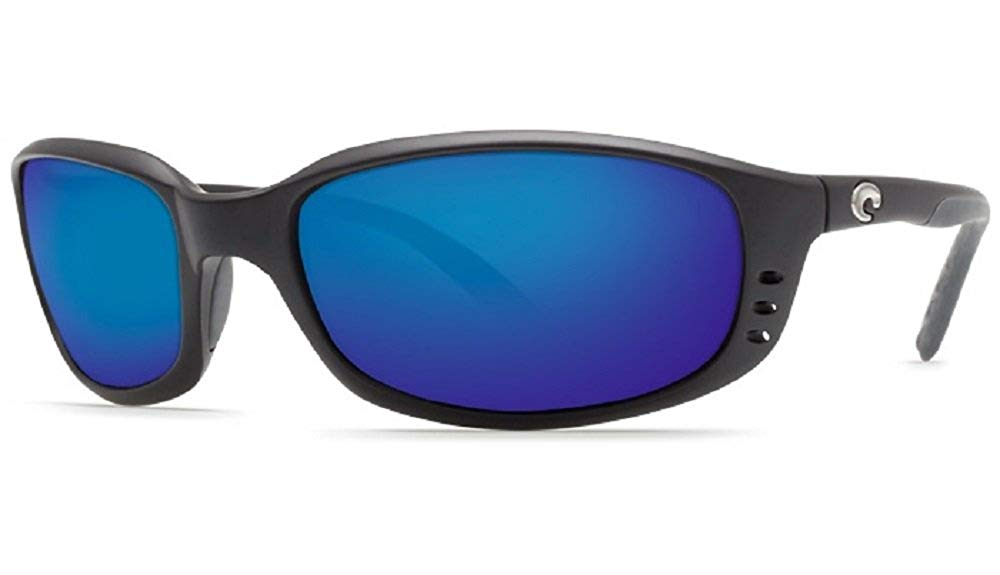 41d89c2132e Get Quotations · Costa Del Mar Brine 580P Black Blue Mirror Polarized  Sunglasses