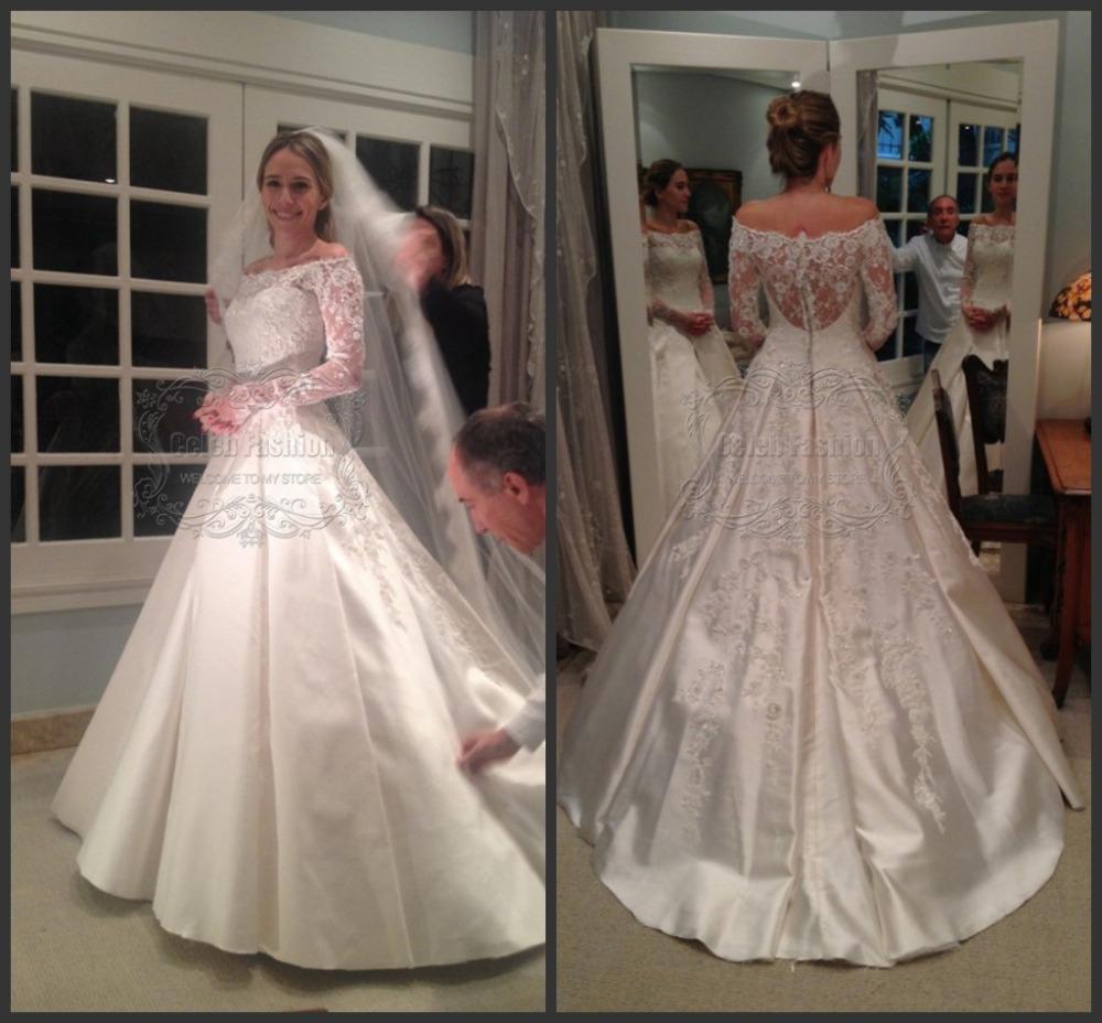 Full Ball Gown Wedding Dresses: New Arrival Scoop Neck Full Long Sleeves Modest Wedding