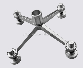 Stainless Steel 304/316 Glass Curtain Wall Spider Fittings Spider System 4 Arms