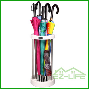 2017 best new design stainless steel plastic umbrella stand