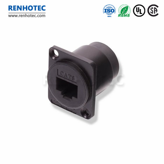 2x Cat6 LAN Joiner Coupler Coupling Snap-In Jack for Keystone Wall Plate Black
