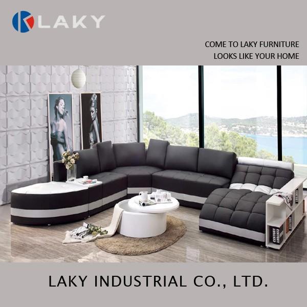 Lk ls1515 comodo e morbido moderni in bianco e nero divano ad ...