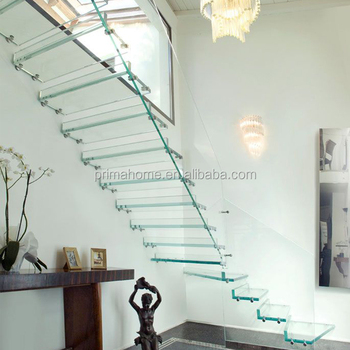 Glass Railing Floating Stair Frosted Glass Build Floating Staircase Modern Floating  Staircase Glass Treads Staircase