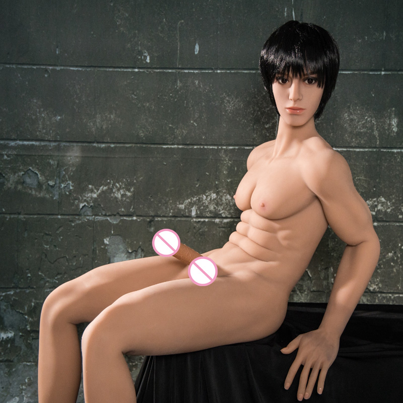 2019 new sexy muscle man male sex doll for woman silicone penis doll realistic