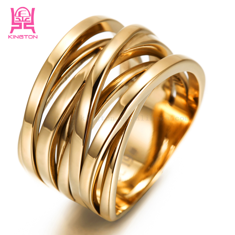 Kington 18K Gold Plated 316L Stainless Steel <strong>Rings</strong>