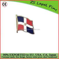 Custom high quality hard enamel Dominican Republic Flag Lapel Pin Badge
