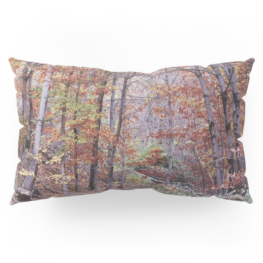 """Society6 Autumn Colors II. Dream Forest Retro Pillow Sham King (20"""" x 36"""") Set of 2"""
