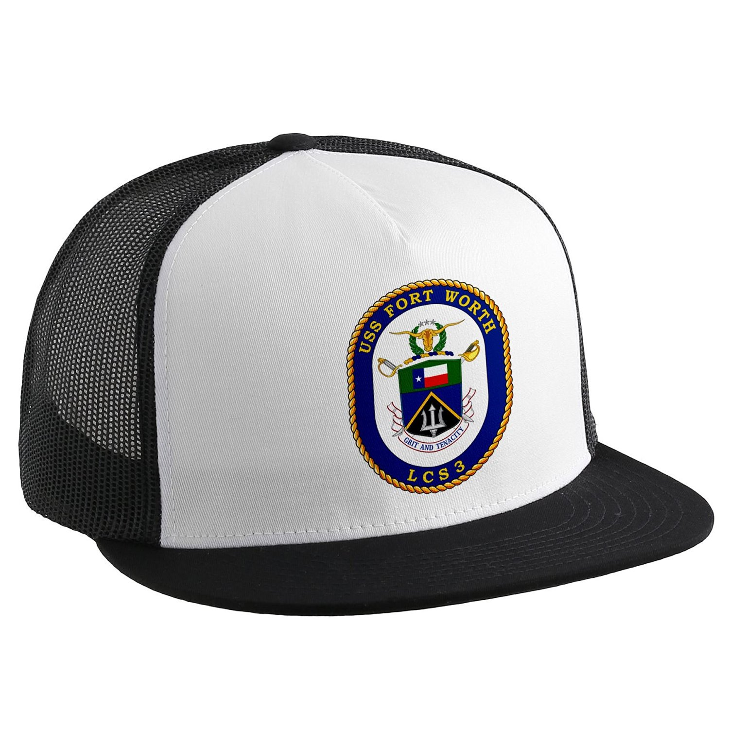 Trucker Hat with U.S. Navy USS Fort Worth (LCS 3), littoral combat ship