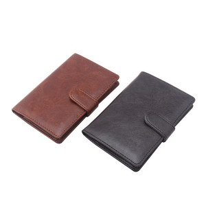 Travel Leather Passport Wallet Holder for Wholesale Best Selling PU Leather Passport Wallet with Pen Loose