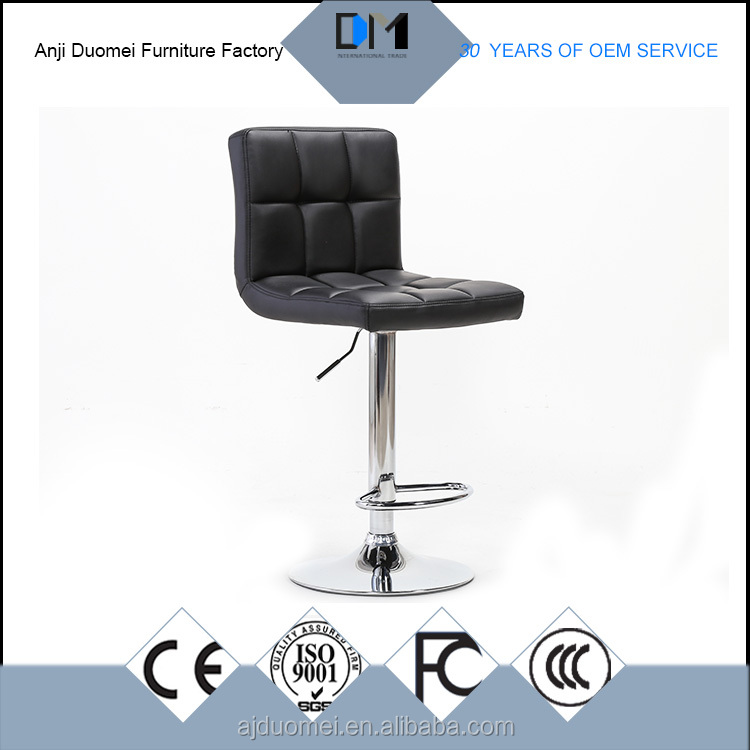 Modern house design black pu leather Dining chair for heavy people