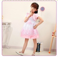 Satin diamond baby dress formal baby dress children baby embroidered satin dress for welding