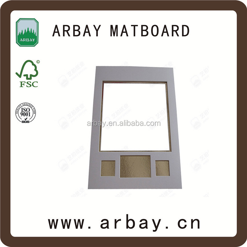 China factory new design and custom size holy nature photos picture frame matting matboard bulk packs