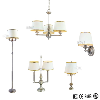 Whole European And American Style Antique Metal Chandelier Wall Lamp Floor Table Lamps 5lamps Sets For Hotel Home