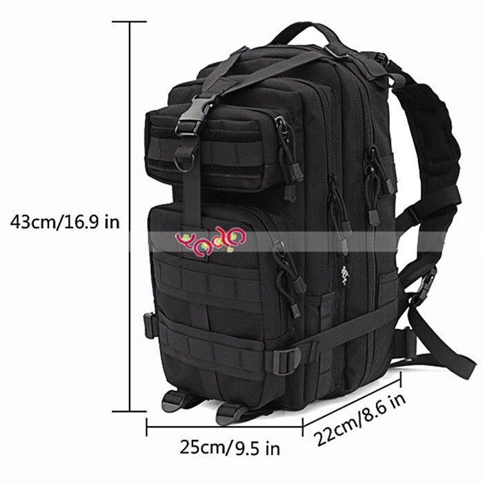 3P Rucksack March Outdoor Tactical Military Backpack <strong>Bag</strong> Shoulders <strong>Bag</strong> Black