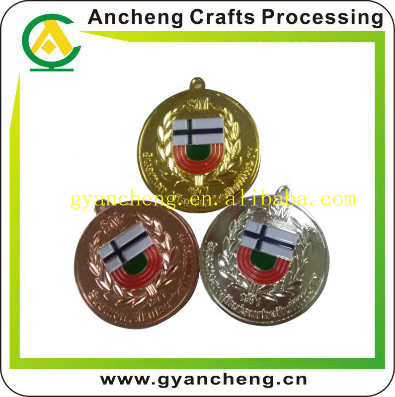 Cheap Price High Quality Gold Silver Bronze Sports Trophies and Medals