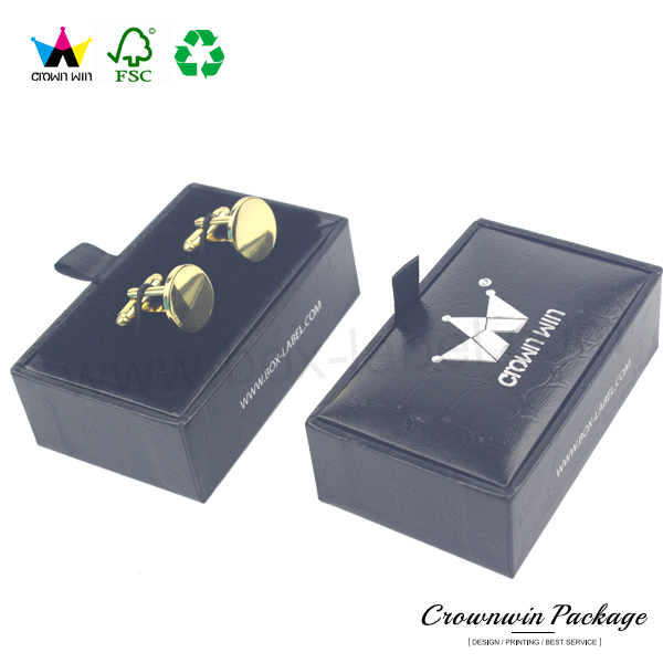Luxury Mini Custom Cufflink Cardboard Paper Box Packaging
