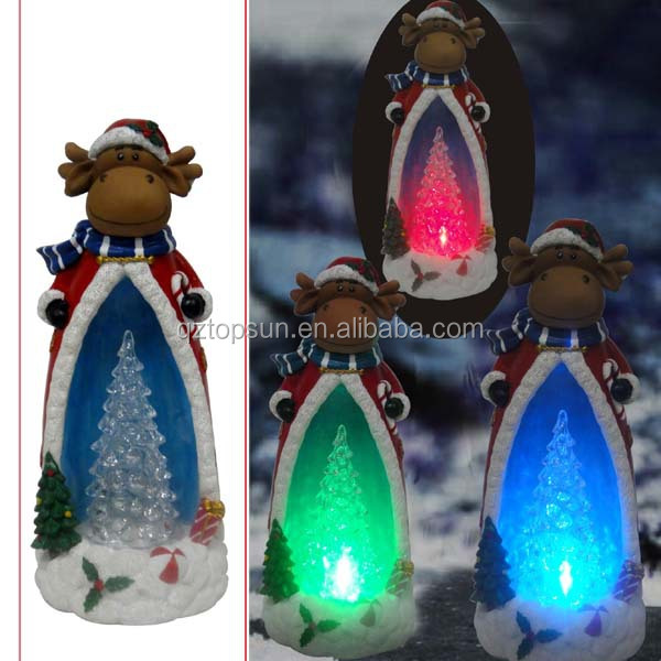 Christmas tree decoration polyresin reindeer outdoor led light