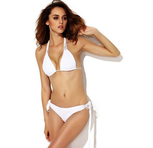 d63e78001c38e Get Quotations · High Quality Sexy White Bandage Bikini Swimsuit Free  Shipping