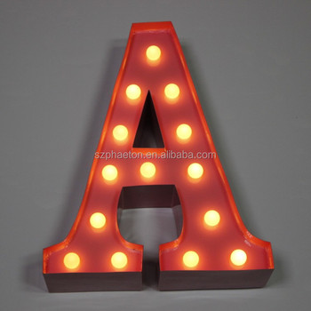 Battery Operated Carnival Light Up Letter Lights A To Z All The Alphabet