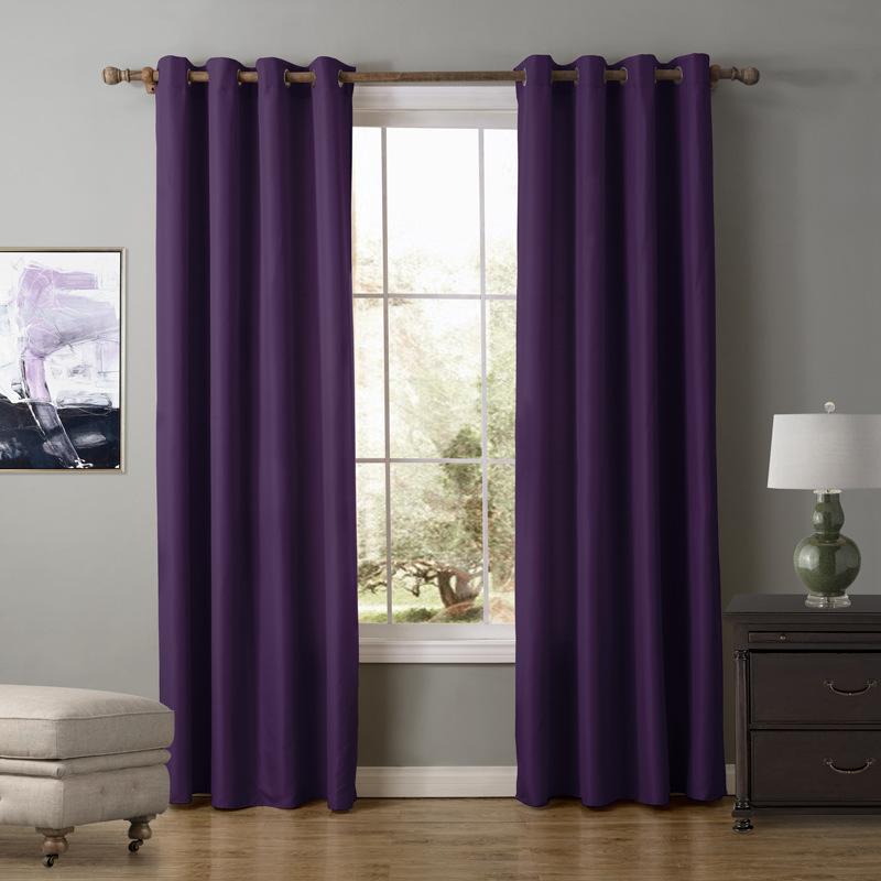 piece unikea oford prpura cortina para sala de estar semi apagn cortina de ventana