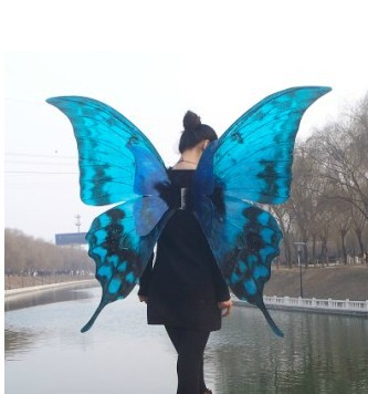 Blue butterfly wings cosplay victoria wings for party - What time does victoria gardens open ...