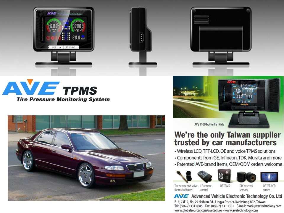 Quality Product Car Accessary AVE T100-SERIES Tire Pressure Mnitoring System TPMS for Mazda Eunos