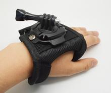 Glove Wrist Band 360 Degree Swivel Rotation Hand Strap Belt Tripod Mount For GoPro Hero 4/3+/3 Go Pro SJCAM SJ4000 SJ5000 GP127L
