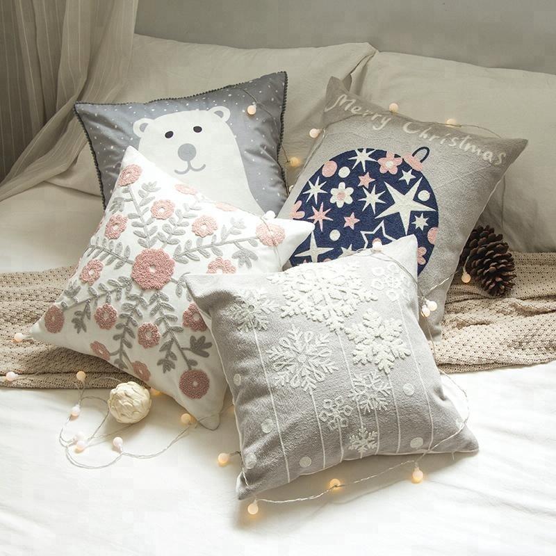 Encuentre el mejor fabricante de fundas de almohada bordada y fundas ...