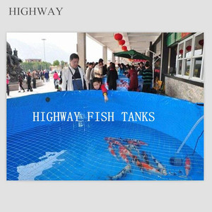 Circle or square PVC Tarpaulin portable tanks for fish hatchery