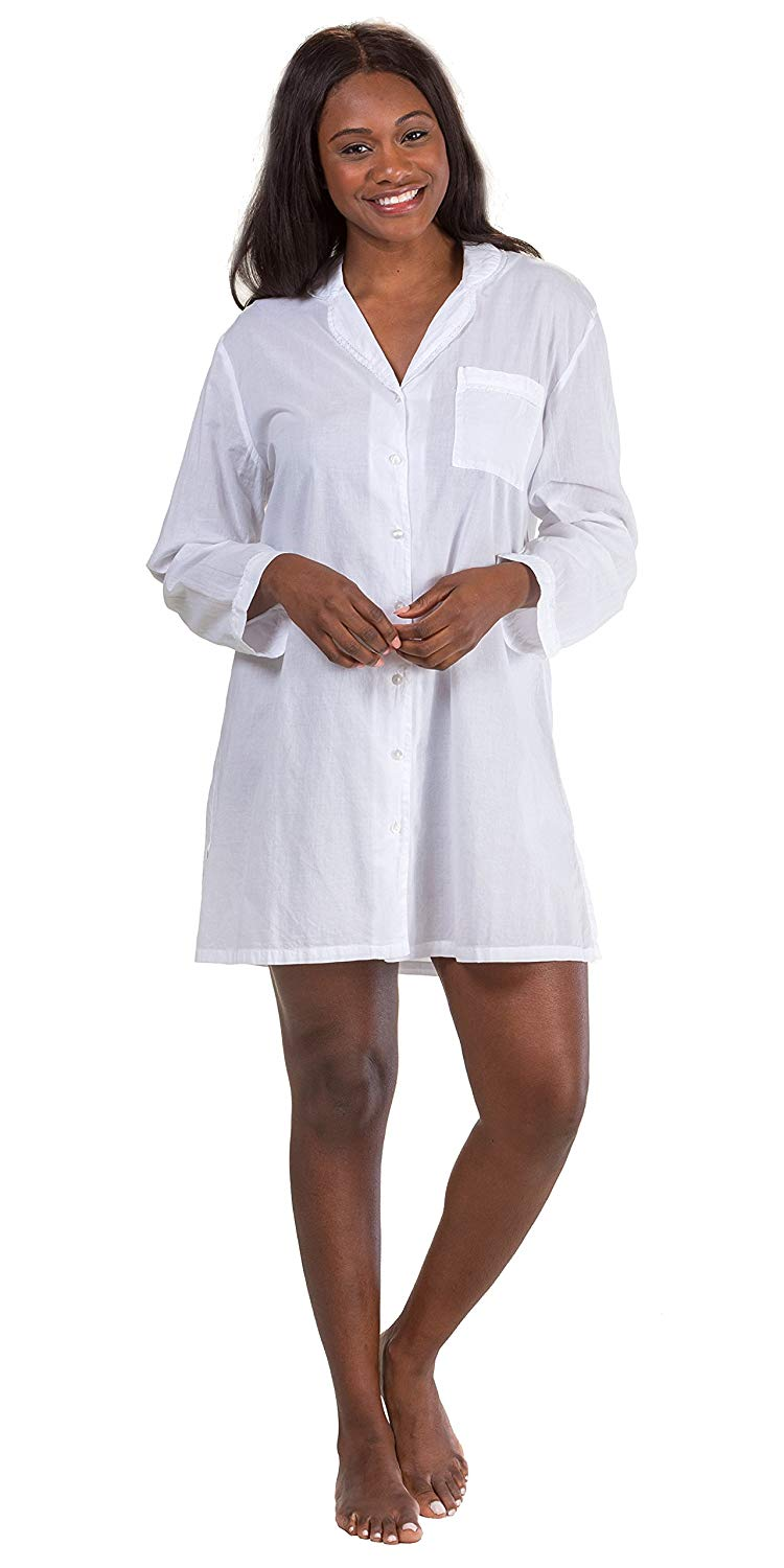 ... Robe Nightgown in Meadow Mist 53.99. La Cera Boutique Long Sleeve  Button-Front Cotton Nightshirt in Essential White b2a182641