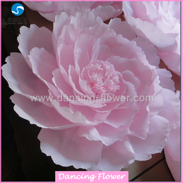 Custom giant fresh look crepe paper peony flowers for decoration wfcm 01 mightylinksfo