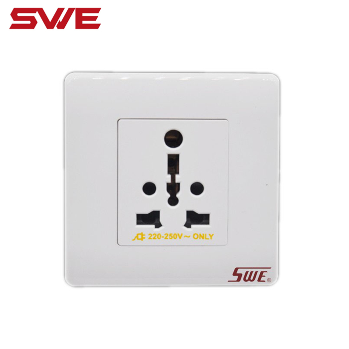 Multi socket 1-gang 16A electrical wall socket of wall switch socket brand