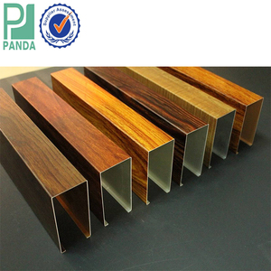 High Quality Wood Finish Fashion Extruded Aluminum Beam Baffle False Ceiling Panels System