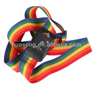 Colorful Stripe Luggage Belt with TSA Lock for Sale