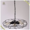 retro industrial design traditional iron fan shape chandelier with 5 E27 bulbs
