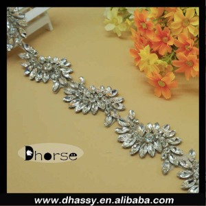 Hot fix bling crystal trim bridal clear rhinestone trim wholesale