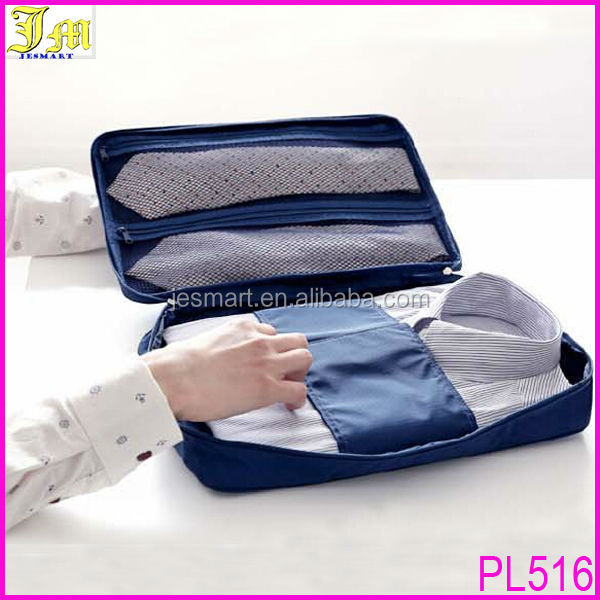 New Folding Slim Shirts Necktie Tie Pouch Case Travel Organizer Bag Trip Luggage T-Shirts