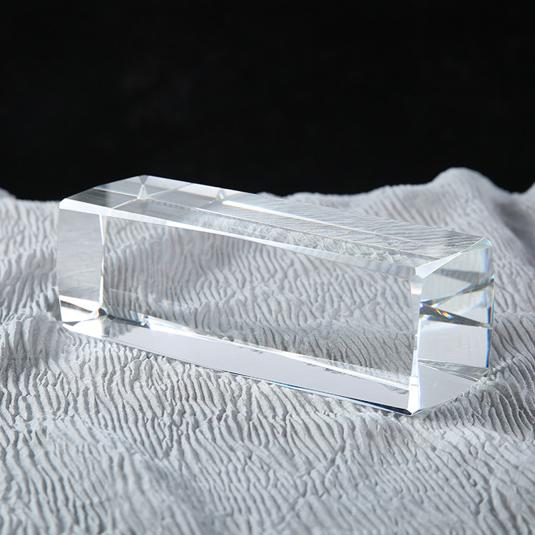K9 Solid blank crystal 8 Angle rectangle crystal glass block