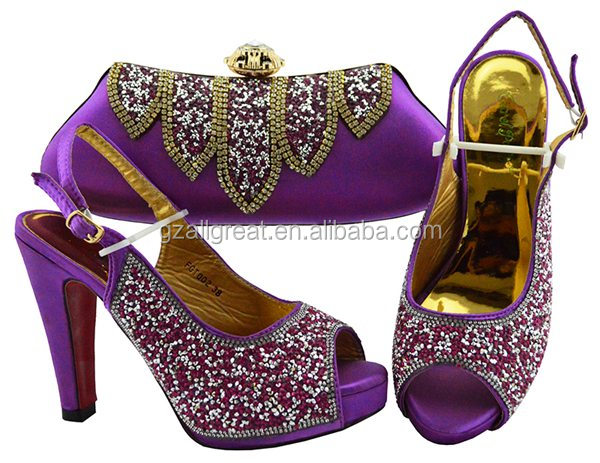 AB8566 Fashionable Lady italian shoes matching bag set women shoes and bags