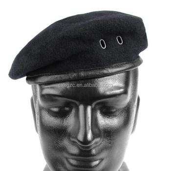 807fab933be9e Custom Color Black Military Beret 100% Wool Army Beret Caps - Buy ...