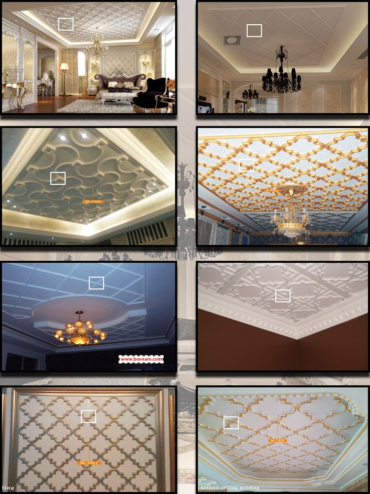 Modern house ceiling decoration cloud pattern mouldings
