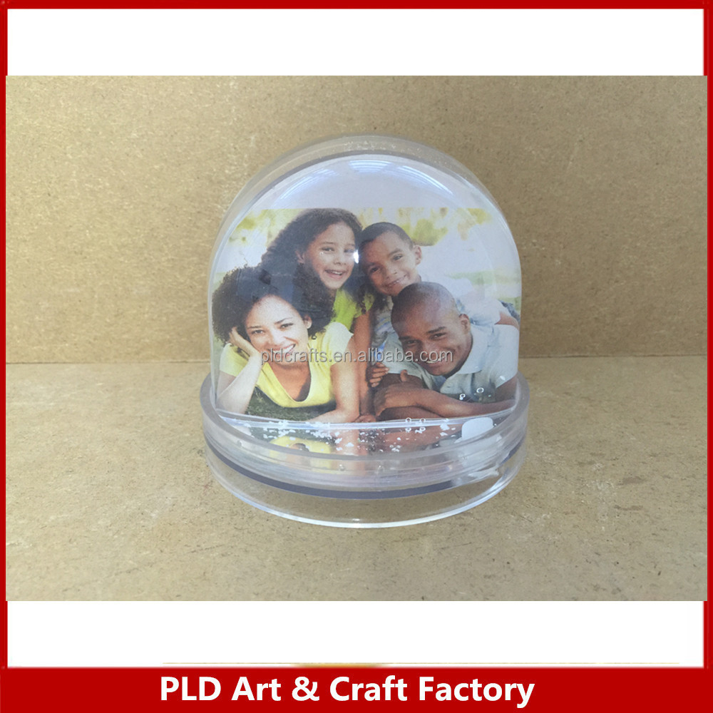 acrylic photo snow globe/ acrylic photo dome