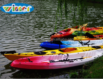 Promotional Kayak Plastic No Inflatable Cheap Tandem Or Solo Fishing Sea