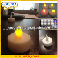 Various led colors OEM logo Mini battery operated Smokeless,Flameless,Wax-free led candles light