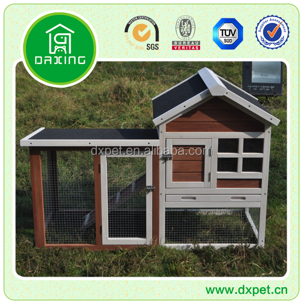 Commercial outdoor design large wooden rabbit hutch