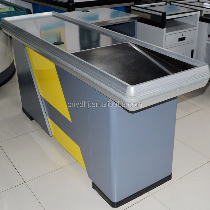 Retail Store Supermarket Cashier Sales Design Cash Table Checkout Counters