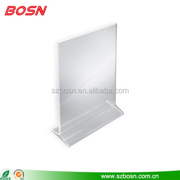 Hot Sell Acrylic Restaurant Menu Stand Perspex Table Tent Sign - Restaurant table tents and menu sign displays