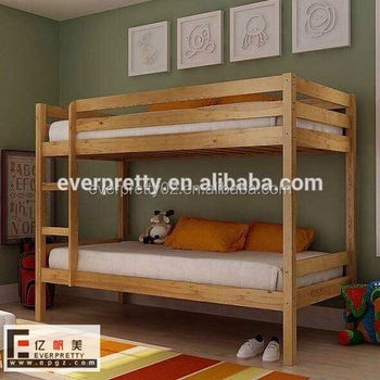 Factory direct bed room furniture bunk solid wood bed - Literas para adultos ...