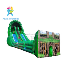 Giant commercial outdoor game AMAZON inflatable zipline zip line obstacle course equipment